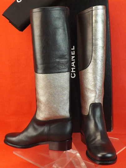 Chanel Black/Silver Boots