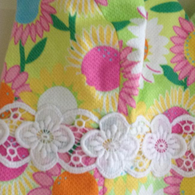 Lilly Pulitzer Yellow, pink, turqoise, green, white Halter Top
