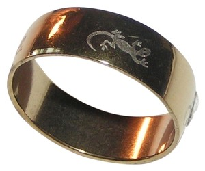 Gold plated stainless steel wide band ring free shipping