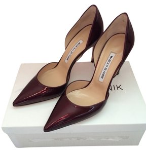 Manolo Blahnik Wine Burgundy Pumps