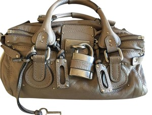 Chloé Paddington Chloe Paddington Taupe Leather Satchel in Metallic Taupe