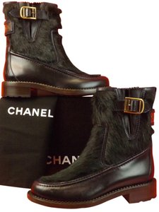 Chanel Navy Blue/Dark Green Boots