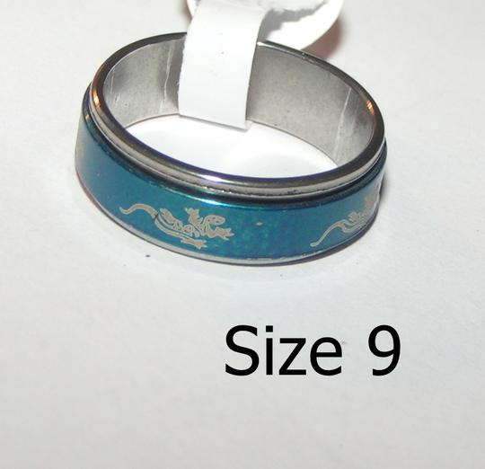 Other Stainless steel blue unisex spinner thumb ring free shipping