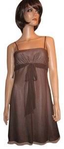 BCBGMAXAZRIA 100% Silk Sheer Dress