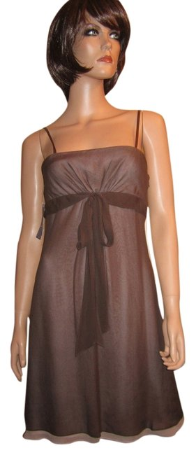 BCBGMAXAZRIA 100% Silk Sheer Spaghetti Straps Dress
