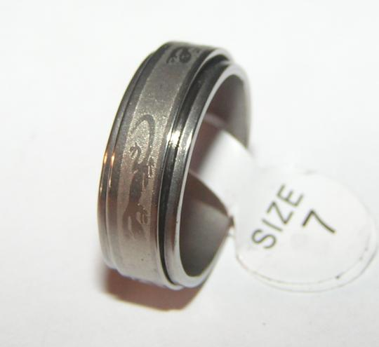 Silver Stainless Steel Lizard Gecko Spinner Ring Free Shipping