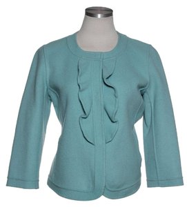 Talbots Felted Wool 3/4 Sleeve blue Jacket