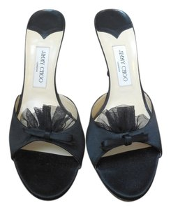 Jimmy Choo Satin Black Pumps