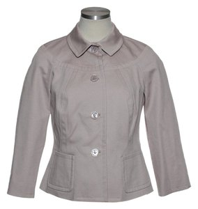 Talbots 3/4 Sleeve Woven Lined Lavender Jacket