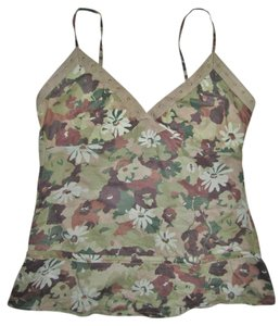 Forever 21 Summer Camouflage Top olive green