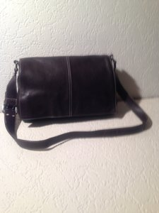 Tignanello Leather Cross Body Hobo Bag