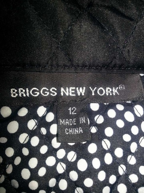Briggs Black with white polka dot lining Jacket