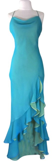 Preload https://item5.tradesy.com/images/light-turquoise-lime-green-style-2233-high-low-cocktail-dress-size-8-m-3873934-0-0.jpg?width=400&height=650