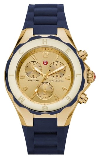 Preload https://item2.tradesy.com/images/michele-large-tahitian-navy-blue-and-gold-watch-3874051-0-0.jpg?width=440&height=440