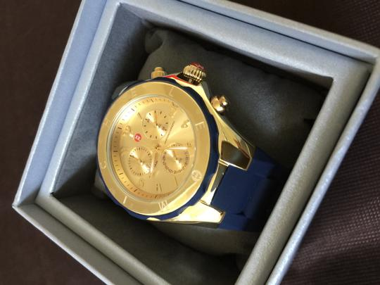Michele Nwt Michele large Tahitian navy blue and gold watch $400