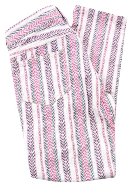 Isabel Marant Multicolor Striped Cooper Cropped Jeans Etoile Capris multi