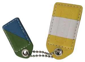 Coach COACH COLOR BLOCK KEY CHAIN HANG TAG FOB