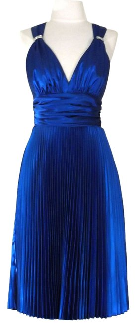 Cinderella Divine Royal Blue Style 62727 Knee Length Night Out Dress Size 8 (M) Cinderella Divine Royal Blue Style 62727 Knee Length Night Out Dress Size 8 (M) Image 1