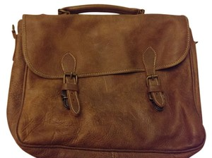 Roots Distressed Distressed Leather Leather Brown Messenger Bag