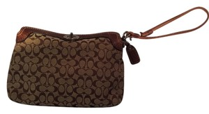 Coach Brown/Khaki Clutch