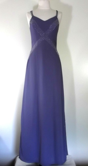 Alfred Angelo Lilac Crepe Style 6906 Formal Bridesmaid/Mob Dress Size 6 (S) Alfred Angelo Lilac Crepe Style 6906 Formal Bridesmaid/Mob Dress Size 6 (S) Image 1