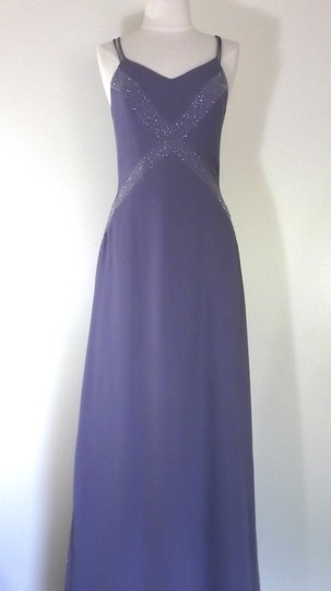 Alfred Angelo Lilac Crepe Style 6906 Formal Bridesmaid/Mob Dress Size 6 (S) Image 1
