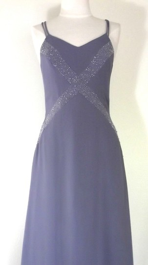 Alfred Angelo Lilac Crepe Style 6906 Formal Bridesmaid/Mob Dress Size 6 (S) Image 2
