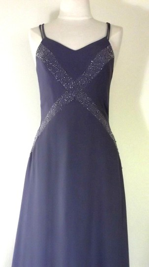 Alfred Angelo Lilac Crepe Style 6906 Formal Bridesmaid/Mob Dress Size 6 (S) Image 3