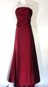 Alfred Angelo Ruby Taffeta Style 6485 Formal Bridesmaid/Mob Dress Size 6 (S)
