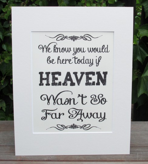 Preload https://item2.tradesy.com/images/great-rustic-sign-for-your-memory-table-beautiful-ivory-color-sign-reads-we-know-you-would-be-here-today-if-heaven-wasn-t-so-far-away-3874816-0-0.jpg?width=440&height=440