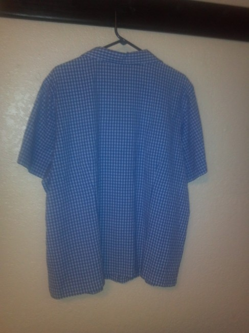 Erika Button Down Shirt blue and white