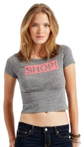 Aéropostale Aeropostale Crop Shop T Shirt Black