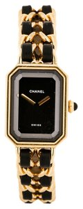 Chanel AUTHENTIC CHANEL GOLD & BLACK CHAIN PREMIERE WATCH