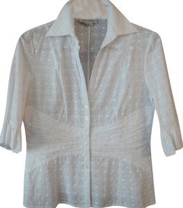 Kay Unger Top White