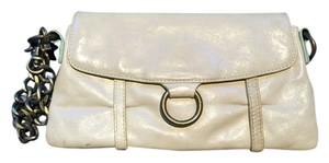 Hobo International Leather Paisley Wristlet in Off White