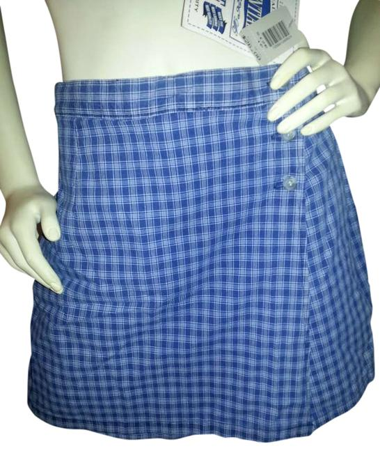 Essentials Boutique Skort blue plaid