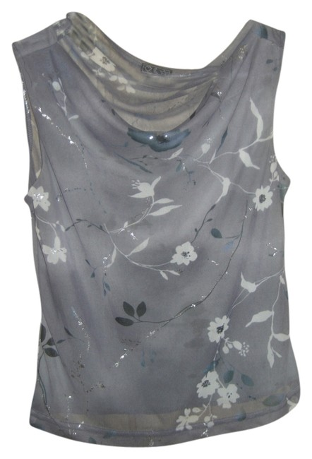 Other Floral Top Gray