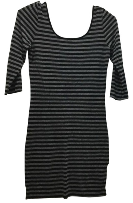 Preload https://item2.tradesy.com/images/cotton-on-grey-black-striped-mini-night-out-dress-size-2-xs-3876271-0-3.jpg?width=400&height=650