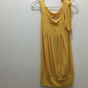 Aqua short dress Yellow on Tradesy