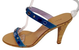 Marc Jacobs Jeweled Heels Blue Mules
