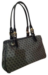 Dooney & Bourke Gray And Black Messenger Bag