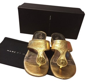Marc by Marc Jacobs Gold Sandals