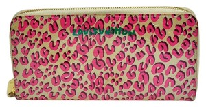 Louis Vuitton Authentic Louis Vuitton Stephen Sprouse Pink Leopard Vernis Zippy Long Wallet