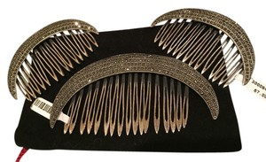 Juan Foronda European Sterling Silver Hair Combs (Never Worn)