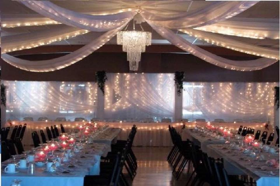 White Tulle Fabric 5 Bolts Reception Decoration