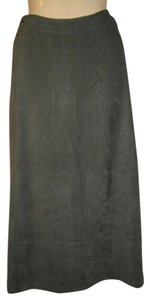 Zara Side Splits String Design Maxi Skirt Olive Green