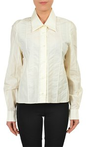 Maison Martin Margiela Button Down Shirt Cream White