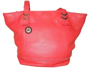 The Sak Leather Tote in red
