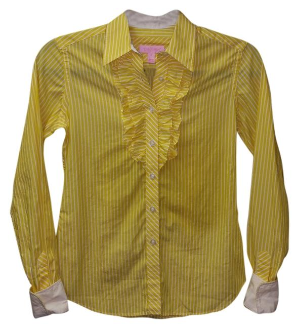 Preload https://item2.tradesy.com/images/lilly-pulitzer-top-yellow-and-white-3878176-0-0.jpg?width=400&height=650