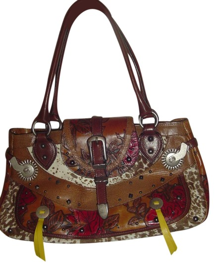 Preload https://img-static.tradesy.com/item/3878371/etro-brown-tooled-leather-and-pony-hair-shoulder-bag-0-0-540-540.jpg